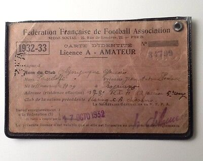 1932-33 French FA Amateur Licence Olympique Ajaccien/Ajaccio