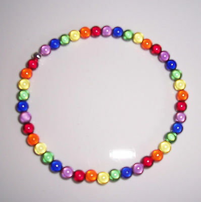 6mm Rainbow Miracle Bead Anklet  - lesbian - Handmade