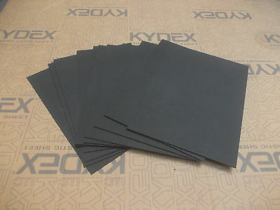11 Pack KYDEX T SHEET 297 X 210 X 2MM A4 SIZE BLACK HAIRCELL FINISH