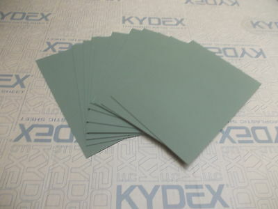 11 Pack 2 mm A4 KYDEX T Sheet 297 mm x 210 mm Olive Drab Green, Holster-Sheath