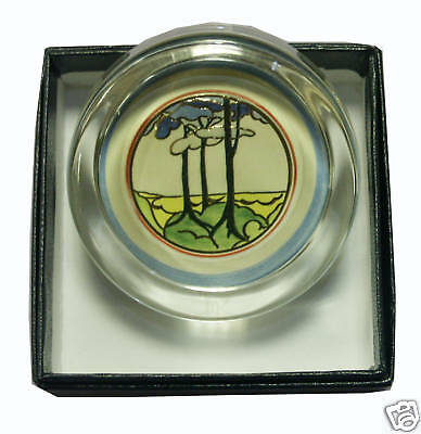 Clarice Cliff Small Paperweight - Blue Firs (repro)
