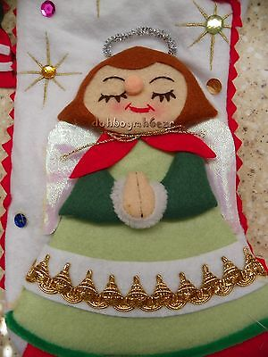 Department 56 Angel Stocking Christmas Fabric