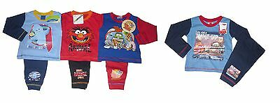 Boys Pyjamas Mixed Characters 1-4 Years Old Long