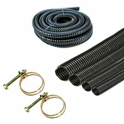 Corrugated Flexible Garden Pond Hose Pipe With Optional Clips  For Filter Pumps