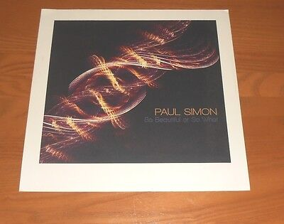Paul Simon So Beautiful or So What Flat Square Promo Poster 12 x 12