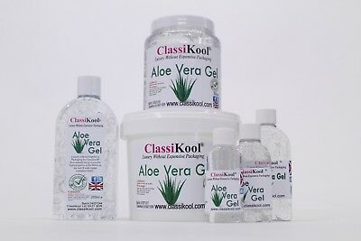 Classikool Aloe Vera Gel: for Natural Soothing Skin Care, Aftersun & Beauty