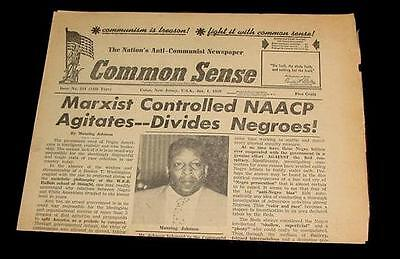 1959 COMMON SENSE ANTI COMMUNIST MARXIST CONTROLLED NAACP NEGRO BLACK ISRAEL !!!
