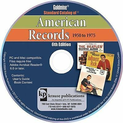 Standard Catalog of American Records, 1950-1975 by Goldmine Magazine Editors...