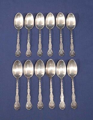 "12 Gorham Sterling Silver STRASBOURG 1897 Youth Spoons Rare Size 5-1/4"" Mono A"