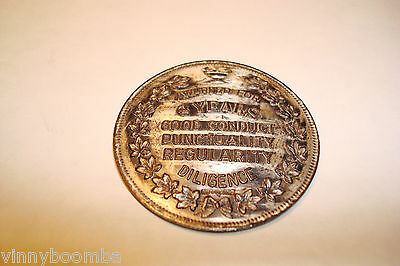 Vintage Sterling Silver Token Or Coin For 8 Years Of Good Conduct Diligence ****
