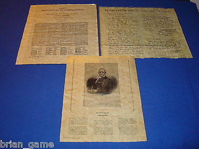 Texas Declaration of Indpendence, Sam Houston,  Travis Letter,  Reproductions
