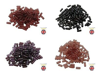 100 Pcs- 10mm Polished Glass Tube Beads Jewellery Beading Spacer Many Colours ML