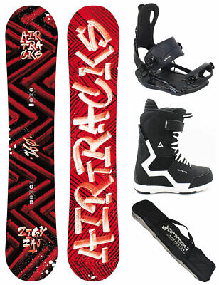 AIRTRACKS Snowboard Set Hit & Run Rocker+Bindung+Boots+Bag+Pad / 150 155 161 cm