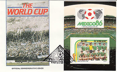 (33032) St Vincent FDC - Football World Cup 1986- Mexico #1