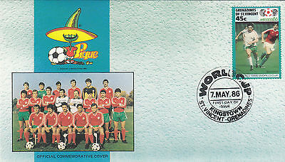 (33067) St Vincent Grenadines FDC - Football World Cup 1986- Bulgaria
