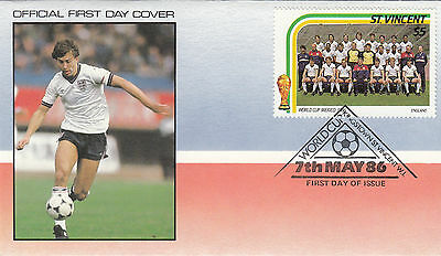 (33076) St Vincent FDC - Football World Cup 1986 - England