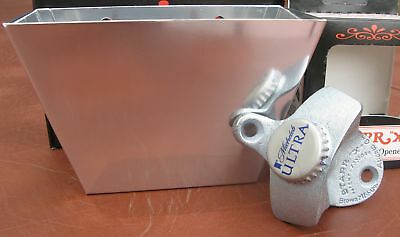 Michelob Ultra Custom Beer Bottle Opener & Cap Catcher * Bar Pub  NIB