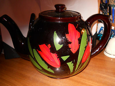 Weller Pottery Large Early Two=Handled Teapot