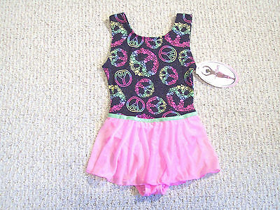 Nwt Jacques Moret Skirted Dance Leotard Girls Xs (4/5)