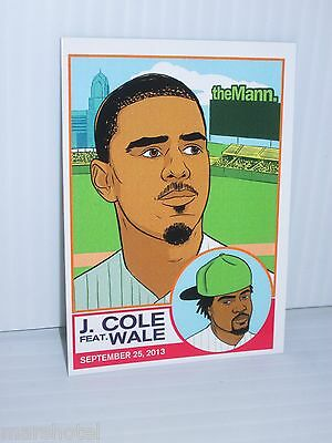 J.cole Featuring Wale 2013 Mann Music Center Philadelphia Trading Card