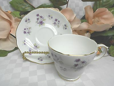 Duchess China Dinnerware Collectors Woodside Purple Floral Cup and saucer