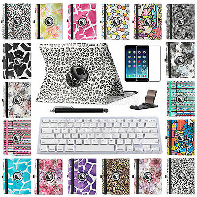 For Apple New iPad 3rd 4th 2nd Stand Leather Case Cover With Bluetooth Keyboard