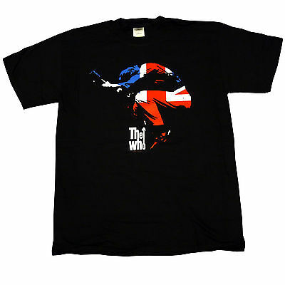 The Who Pete Townshend Union Jack Windmill Red White Blue Print T-Shirt 9D