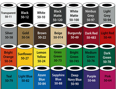 "4 Rolls - 12"" X 10yd 3M ScotchCal Cutting Vinyl Bundle - *28 Color Choices*"