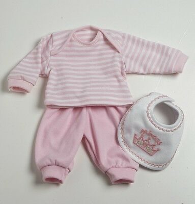 """Adora 3 pc. Pink Layette Play Set Outfit for 13"""" Vinyl Baby Girl Doll 201220939"""