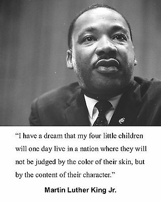 """Martin Luther King Jr.  """" I have a Dream """" Quote 8 x 10 Photo Picture #b1"""