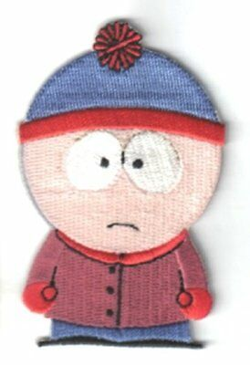 South Park TV Series Stan Figure Embroidered Patch, NEW UNUSED