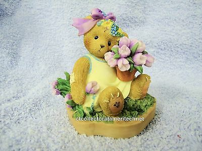Cherished Teddies Abbey Press Blooming Easter Blessings 2009  Signed