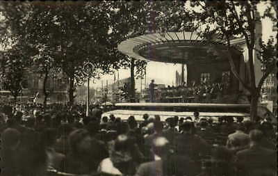 Bilbao Spain Live Music Band Orchestra Real Photo Postcard