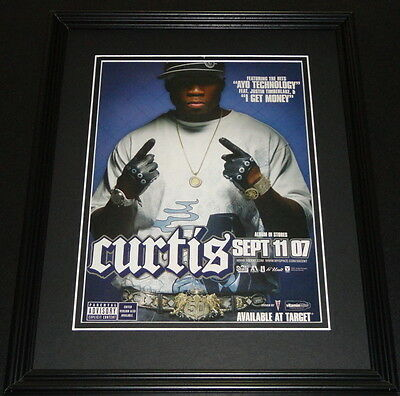 50 Cent 2007 Framed ORIGINAL 11x14 Advertisement Curtis