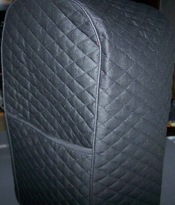 Black Quilted Fabric 2 Pocket Cover for VitaMix Blender Machine - NEW