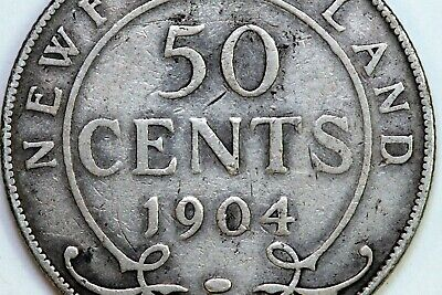 Up for Sale is One 1904-H Newfoundland 50 Cents that Grade Fine (CA623)