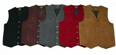 Wyoming Traders Red Australian Wool Vest Cowboy Sass Ranchwear