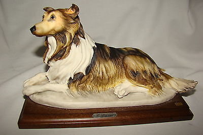 VINTAGE GUISEPPE ARMANI FLORENCE COLLIE FIGURINE CAPODIMONTE ITALY