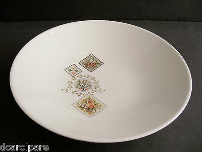 """Taylor Smith Taylor China BROCATELLE Coupe White Soup Bowl Green Patch Quilt 7+"""""""