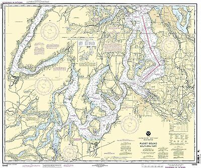 NOAA Chart Puget Sound-southern part 35th Edition 18448