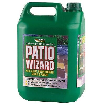 Everbuild Patio Wizard Moss Killer Path & Patio furniture cleaner 1 Litre