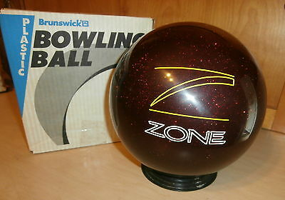 Brunswick Target Zone Burgundy Sparks Polyester Bowling Ball 16 LBS