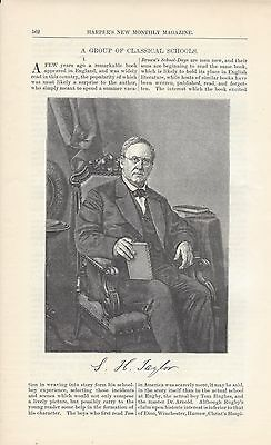 1877 American Classical Schools Phillips Exeter St Paul vintage magazine article