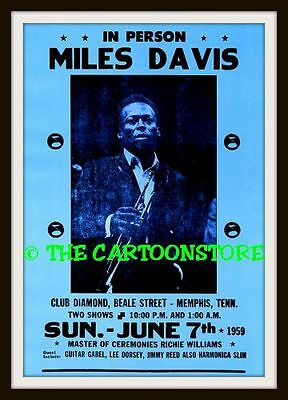 "MILES DAVIS, LEE DORSEY, JIMMY REED - MINI-POSTER PRINT 7"" x 5"""