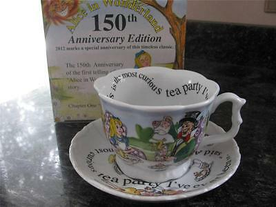 ALICE IN WONDERLAND 150th ANNIVERSARY 13 OZ BREAKFAST CUP & SAUCER CARDEW  NIB