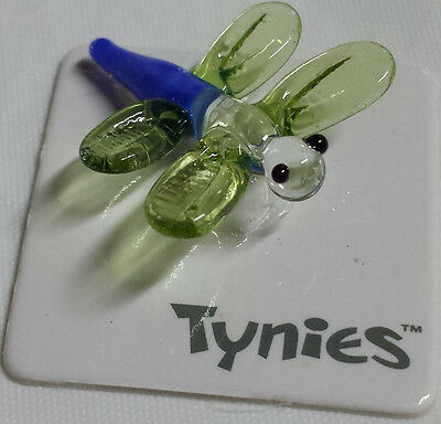 Dry Dragon Fly green TYNIES Tiny Glass Figure Figurines Collectibles 0044