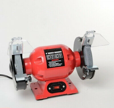 """ATE 1/2 HP 6"""" Bench Grinder w/ Single Work Light Grinding Tools Shop Home Tool"""