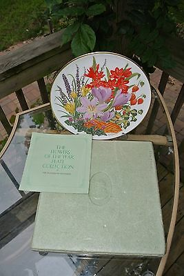 Franklin Mint FLOWERS OF THE YEAR PLATE COLLECTION The Flowers of November
