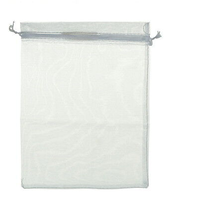 25pcs 10x15cm Premium White Organza Jewellery Gift Pouch Bags Wed X-mas Favors