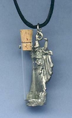 Wizard Vial Pendant Necklace - Pewter